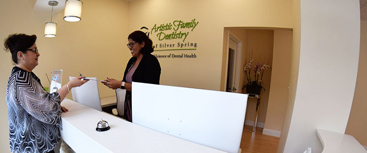 reception desk at Artistic Family Dentistry